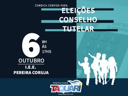 Eleições do Conselho Tutelar ocorrem neste domingo, dia 6