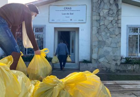 Assistência Social recebe doação de cestas básicas
