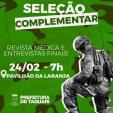 Região Militar convoca seleção complementar