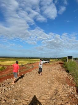 Prefeitura trabalha nas melhorias de acesso para escoamento da produção de arroz