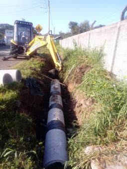 Prefeitura avança na troca de canalização em Taquari