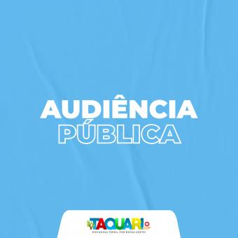 Prefeitura realiza audiência pública na próxima sexta-feira