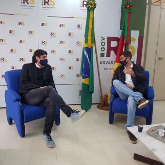 Vice-prefeito participa de audiência com Secretário Estadual de Esporte e Lazer
