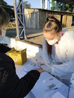 Prefeitura realizou ação de testagem no sábado, em diversos pontos do município