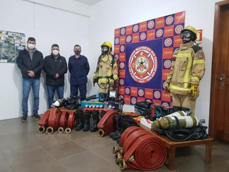 Unidade dos Bombeiros de Taquari recebe equipamentos