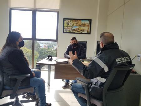 Vice-prefeito de Taquari recebe adjunto da Defesa Civil