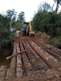 Ponte sobre o Arroio Capivara foi reformada nesta semana